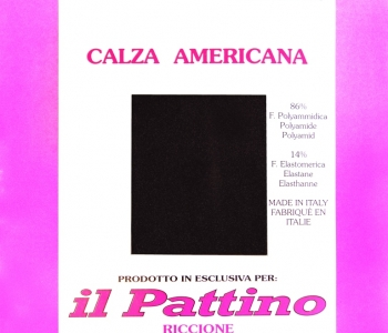 """Calza Americana Originale """" IL PATTINO RICCIONE """""""