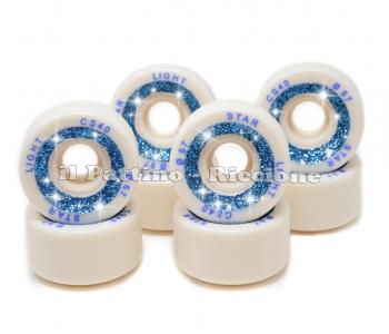 Ruote Star Boiani con Glitter CS 40 diam. 57 mm. Bianche