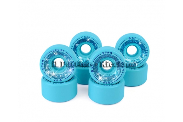 Ruote Star Boiani con Glitter CS 40 diam. 57 mm. Azzurre