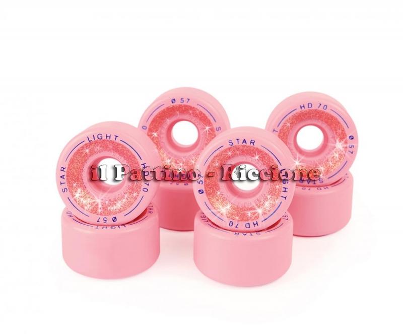 Ruote Star Boiani Glitter HD 70 diam. 57 mm. Rosa