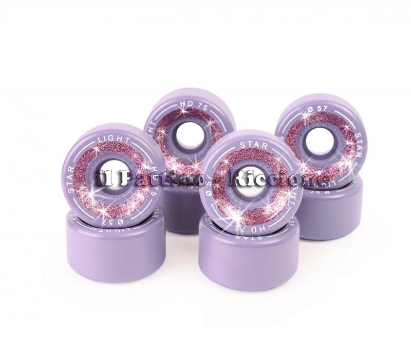 Ruote Star Boiani Glitter HD 75 diam. 57 mm. Viola